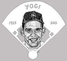 Yogi Berra Baseball Star 1925-2015 by Rebekah Melville