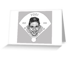 Yogi Berra Baseball Star 1925-2015 Greeting Card