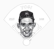 Yogi Berra Baseball Star 1925-2015 Kids Tee