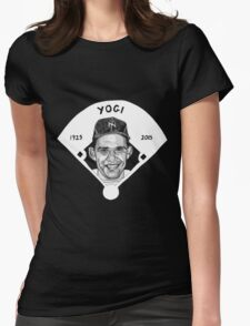 Yogi Berra Baseball Star 1925-2015 Womens Fitted T-Shirt