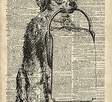 Dog with a Picnic Basket by DictionaryArt