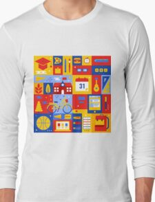 Colorful Education Concept Long Sleeve T-Shirt
