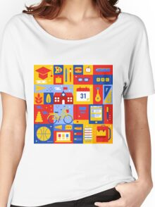 Colorful Education Concept Women's Relaxed Fit T-Shirt