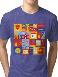 Colorful Education Concept Tri-blend T-Shirt