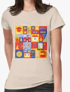 Colorful Education Concept Womens Fitted T-Shirt