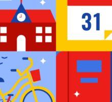 Colorful Education Concept Sticker