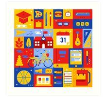 Colorful Education Concept Art Print