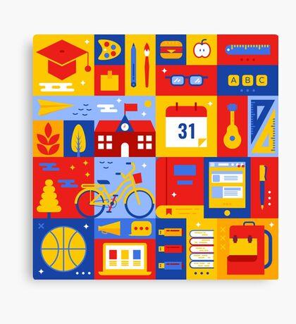 Colorful Education Concept Canvas Print