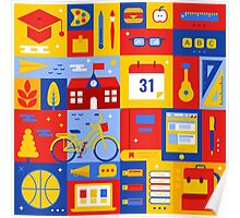 Colorful Education Concept Poster