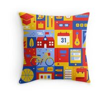 Colorful Education Concept Throw Pillow