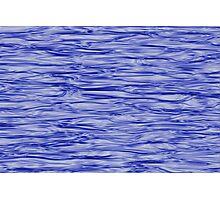 Fractal Noise Blue Swirl Photographic Print