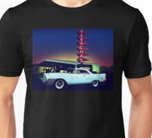 58 Chrysler 300 in Blue Dust at VivaChas Clubhouse Unisex T-Shirt