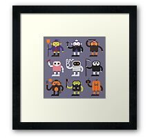 Stupid Halloween Characters Framed Print