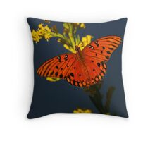 Gulf Fritillary Throw Pillow