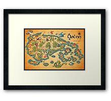 Hoenn Map Framed Print