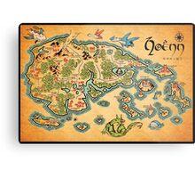 Hoenn Map Metal Print