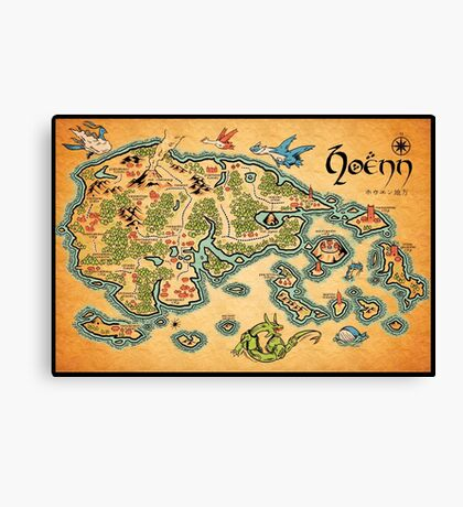 Hoenn Map Canvas Print