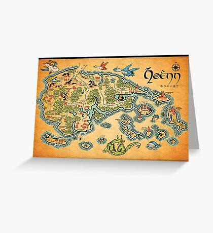Hoenn Map Greeting Card
