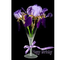 Iris Birthday Photographic Print