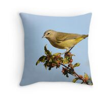 Orange-crowned Warbler Throw Pillow