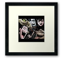 the characters of hotel transylvania 2 Framed Print