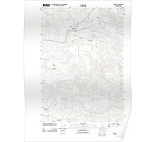 USGS Topo Map Oregon Jordan 20110908 TM Poster
