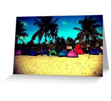 Tents in lomo Greeting Card