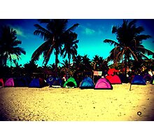 Tents in lomo Photographic Print