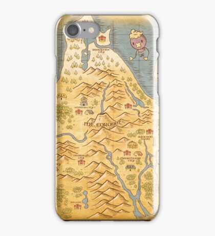 Sinnoh Map iPhone Case/Skin