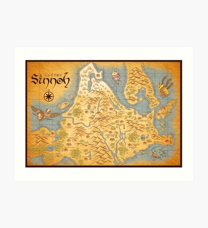 Sinnoh Map Art Print