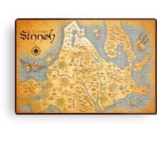 Sinnoh Map Metal Print