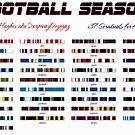 Football Season Gradient by Jaclyn Hughes