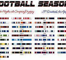 Football Season Gradient by Jaclyn Hughes