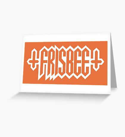 FRISBEE - SPUN Name Shirt Greeting Card