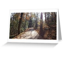 Foot Trails Greeting Card