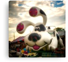 Doggy Carnival Ride Canvas Print