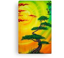 Hope, Bonsai Tree Sunset Canvas Print