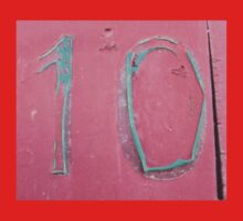 10, NUMBER 10, Ten, Tenth, turquoise, pink, Kids Tee