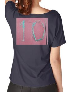 10, NUMBER 10, Ten, Tenth, turquoise, pink, Women's Relaxed Fit T-Shirt