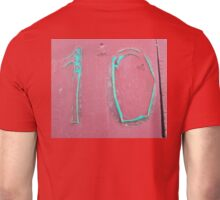 10, NUMBER 10, Ten, Tenth, turquoise, pink, Unisex T-Shirt