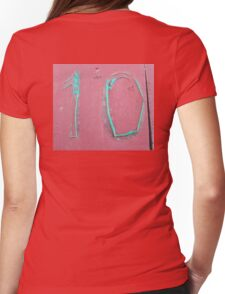 10, NUMBER 10, Ten, Tenth, turquoise, pink, Womens Fitted T-Shirt