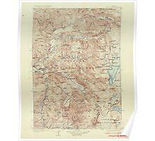 USGS Topo Map Oregon Waldo Lake 283277 1925 125000 Poster