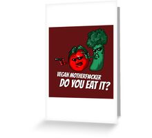 Pulp vegan Greeting Card