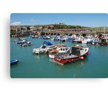 Folkestone harbour, Kent Canvas Print
