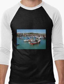 Folkestone harbour, Kent Men's Baseball ¾ T-Shirt
