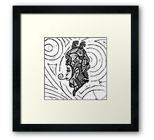 Alien woman Framed Print