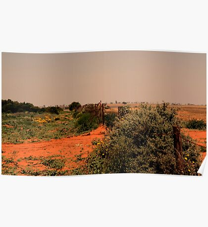 outback fence Poster