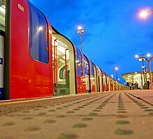 London Underground Train in the Blue Hour by DavidGutierrez