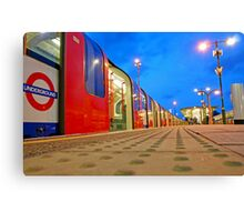 London Underground Train in the Blue Hour Canvas Print