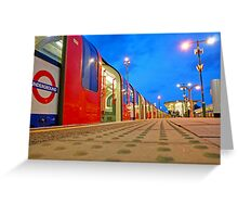 London Underground Train in the Blue Hour Greeting Card